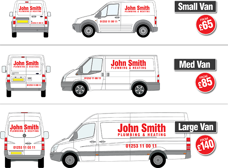 vehicle graphics from blackpool signs and graphics ltd With van lettering cost