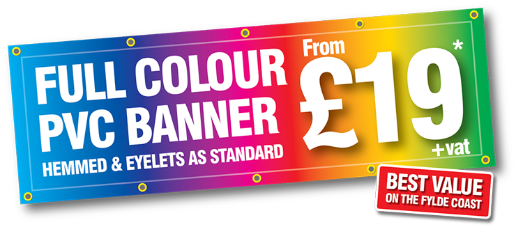Banner Printing Blackpool, Full Colour Banners | Mesh, PVC