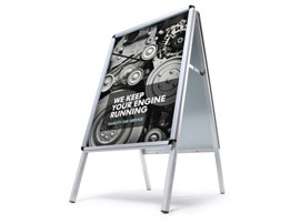 A Board Pavement Sign Poster Holder